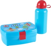 LUNCHBOX-SET - Blau, Kunststoff - MY BABY LOU