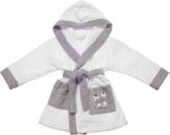KINDERBADEMANTEL - Weiß/Grau, Textil (74-80) - MY BABY LOU