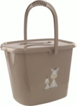 WINDELEIMER LUCKY - Taupe, Kunststoff (28/36/27cm) - MY BABY LOU
