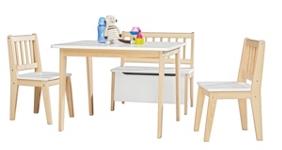 KINDERSITZGRUPPE - Naturfarben/Weiß, Holz - MY BABY LOU