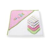 KAPUZENBADETUCH - Pink/Weiß, Textil - MY BABY LOU