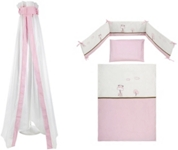 GITTERBETTSET - Rosa/Weiß, Textil - MY BABY LOU