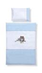 BABYBETTWÄSCHE 100/135 cm - Blau/Weiß, Textil (100/135cm) - MY BABY LOU