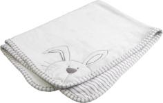 SCHMUSEDECKE 75/100 cm - Silberfarben/Weiß, Textil (75/100cm) - MY BABY LOU