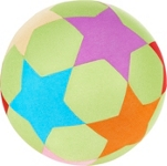 SPIELBALL - Multicolor, Kunststoff/Textil (30,5cm) - MY BABY LOU