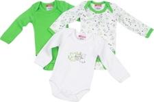 BABYBODY-SET 3-teilig - Grün, Textil (50/56) - MY BABY LOU