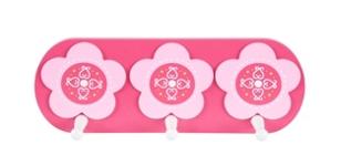 WANDGARDEROBE - Pink/Weiß, Holz/Holzwerkstoff (12/32cm) - MY BABY LOU