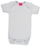 BODY - Weiß/Grau, Textil (74/80) - MY BABY LOU