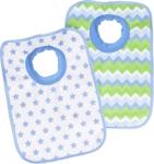 LÄTZCHEN 2-teilig - Blau/Weiß, Textil (23,5/37cm) - MY BABY LOU