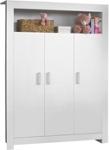 BABYKLEIDERSCHRANK Lilli - Silberfarben/Weiß, Holzwerkstoff/Kunststoff (132/185/54cm) - MY BABY LOU