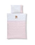 BABYBETTWÄSCHE 100/135 cm - Rosa/Weiß, Textil (100/135cm) - MY BABY LOU