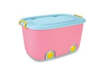 SPIELZEUGBOX 59,5/38,5/31,5 cm - Gelb/Rosa, Kunststoff (59,5/38,5/31,5cm) - MY BABY LOU