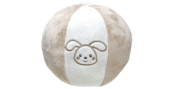 SPIELBALL - Taupe/Weiß, Textil (12cm) - MY BABY LOU