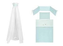 GITTERBETTSET - Weiß/Mintgrün, Textil (100/140/160cm) - MY BABY LOU