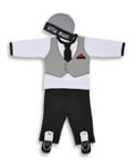 BABYBEKLEIDUNGSSET - Schwarz/Weiß, Textil - MY BABY LOU