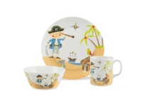 KINDERGESCHIRR 3-teilig - Grün, Keramik - MY BABY LOU