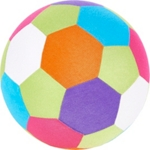 SPIELBALL - Multicolor, Kunststoff/Textil (23cm) - MY BABY LOU