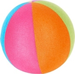 SPIELBALL - Multicolor, Kunststoff/Textil (15,5cm) - MY BABY LOU
