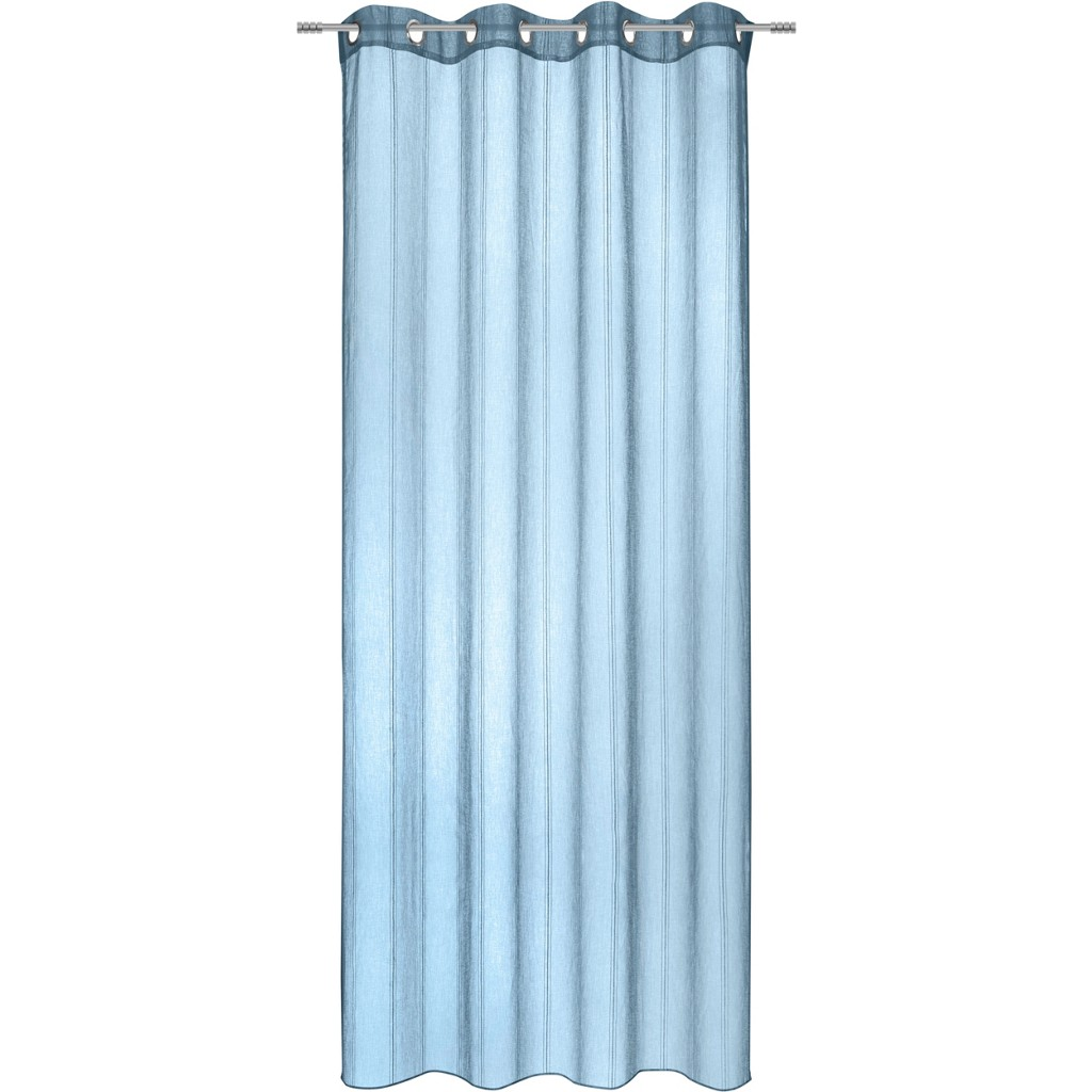 ÖSENVORHANG in Blau transparent