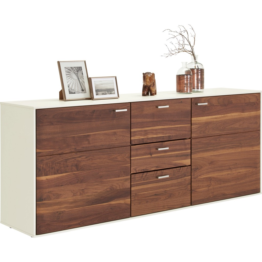 sideboard weiss nussbaum preis vergleich 2016. Black Bedroom Furniture Sets. Home Design Ideas