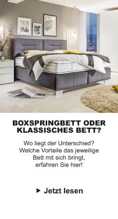 Boxspring vs Klassiches Bett