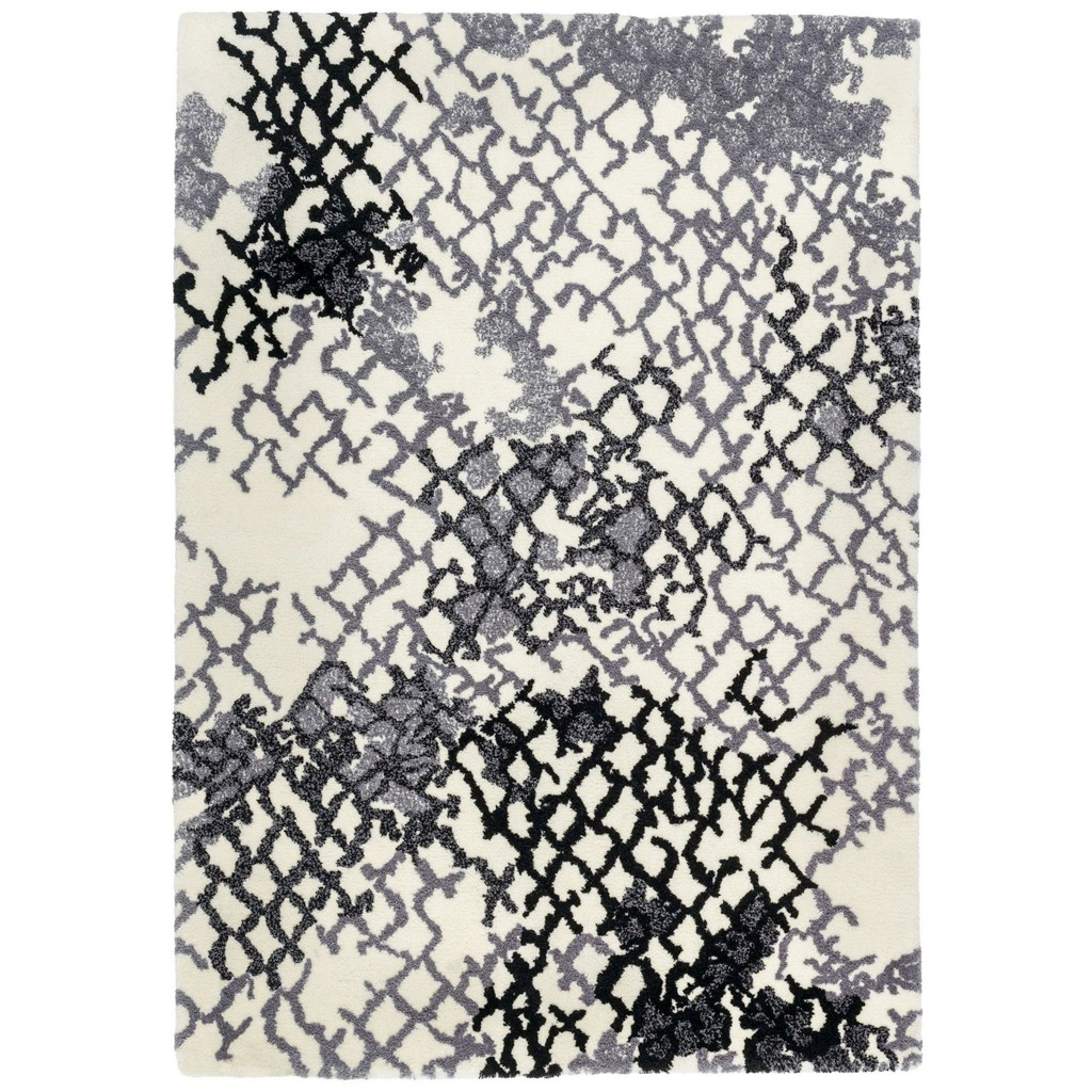 WEBTEPPICH in Grau, Weiß 160/230 cm