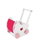 PUPPENWAGEN - Pink/Weiß, Holz/Holzwerkstoff (47,5/30,5/48cm) - MY BABY LOU