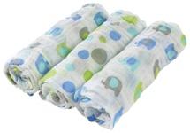 STOFFWINDEL - Blau/Weiß, Textil (80/80cm) - MY BABY LOU