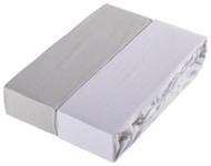 KINDERSPANNLEINTUCH 70/140 cm - Hellgrau/Weiß, Textil (70/140cm) - MY BABY LOU