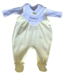 BABYBEKLEIDUNGSSET - Gelb/Weiß, Textil (62) - MY BABY LOU
