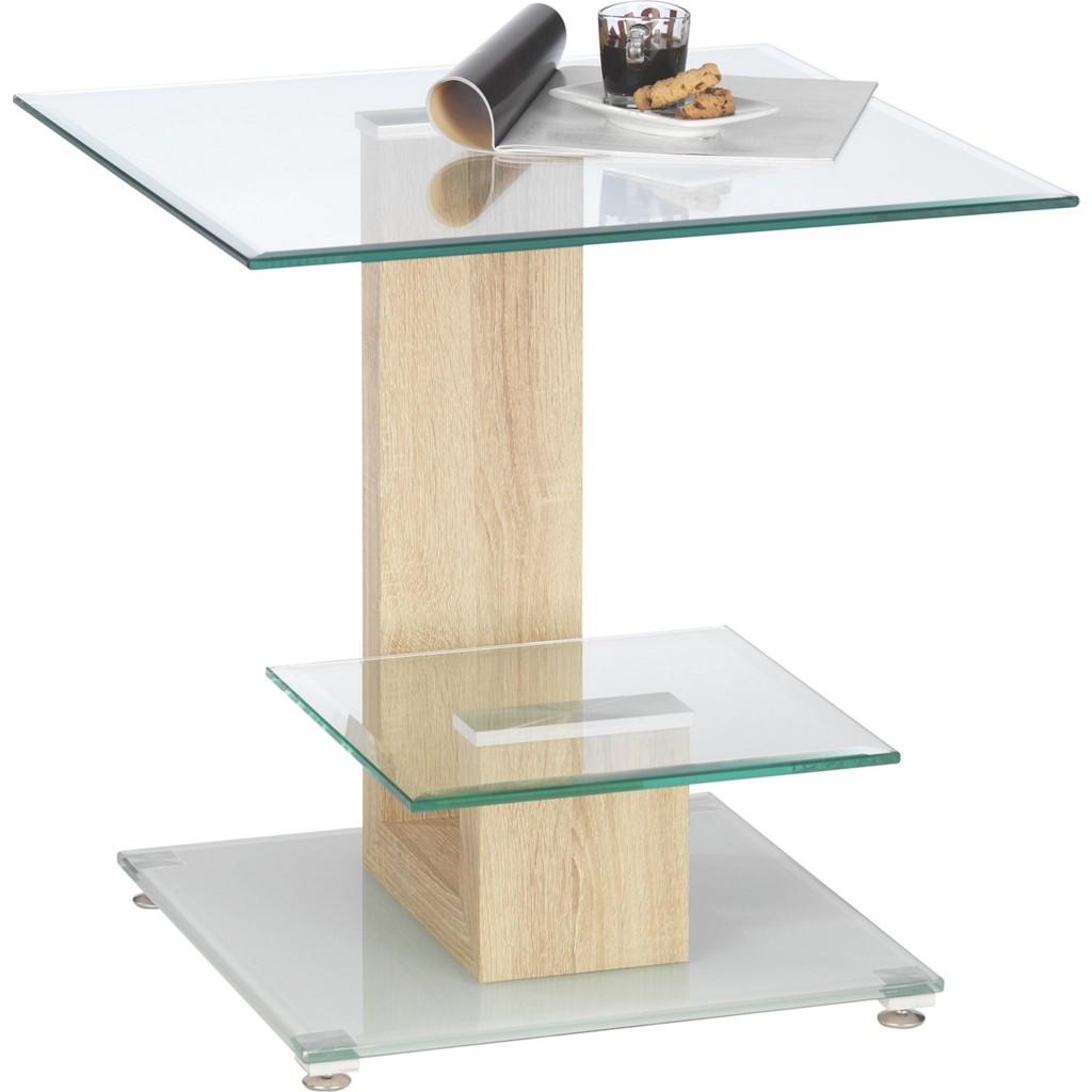 Rabatt wohnzimmer wohnzimmertische for Glas beistelltisch rechteckig