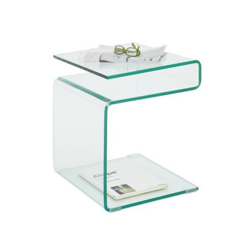 Beistelltisch glas preisvergleich die besten angebote for Beistelltisch c form