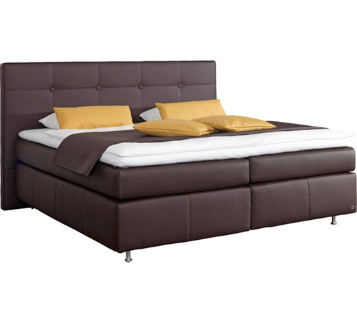 boxspringbett lederlook 180 210 cm inkl matratze topper online kaufen xxxlshop. Black Bedroom Furniture Sets. Home Design Ideas