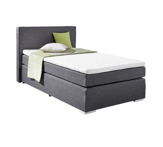 boxspringbett webstoff inkl matratze topper online. Black Bedroom Furniture Sets. Home Design Ideas