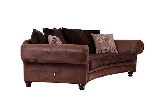 Sofa halbrund-geschwungen  Megasofa im Landhausstil - Edler Blickfang
