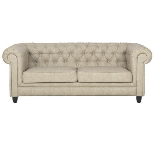 chesterfield sofa dreisitzer lederlook beige online kaufen xxxlshop. Black Bedroom Furniture Sets. Home Design Ideas