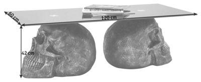 COUCHTISCH Rechteckig Anthrazit, Schwarz   Anthrazit/Schwarz, MODERN, Glas/Kunststoff  (