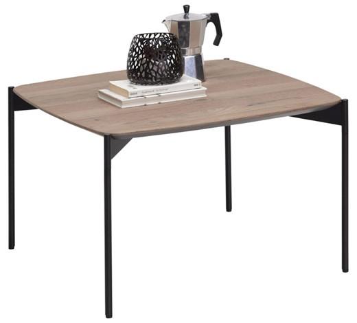 couchtisch eiche furniert quadratisch eichefarben schwarz. Black Bedroom Furniture Sets. Home Design Ideas