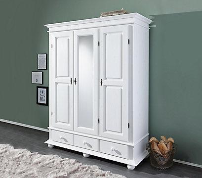 Schlafzimmerschrank weiß landhausstil  Schrank im Landhausstil weiß - Massive Fichte
