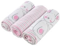 STOFFWINDEL - Pink/Weiß, Textil (75/75cm) - MY BABY LOU