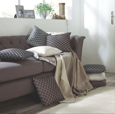 JOOP. DECKE 150/200 Cm   Weiu0026szlig;/Grau, MODERN, Textil (150