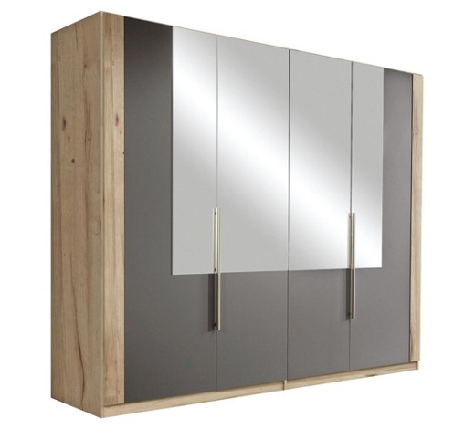kleiderschrank mit vielen einlegeb den. Black Bedroom Furniture Sets. Home Design Ideas