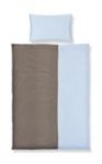 BABYBETTWÄSCHE 100/135 cm - Blau/Braun, Textil (100/135cm) - MY BABY LOU
