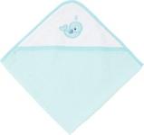 KAPUZENBADETUCH - Türkis/Blau, Textil (80/80cm) - MY BABY LOU