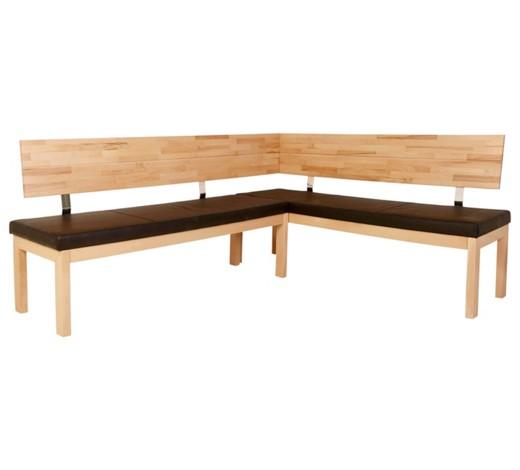 eckbank lederlook kernbuche massiv braun buchefarben online kaufen xxxlshop. Black Bedroom Furniture Sets. Home Design Ideas