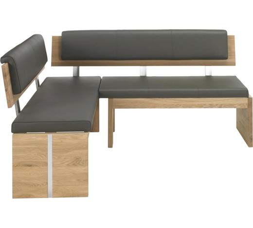 eckbank echtleder eiche massiv eichefarben grau online kaufen xxxlshop. Black Bedroom Furniture Sets. Home Design Ideas