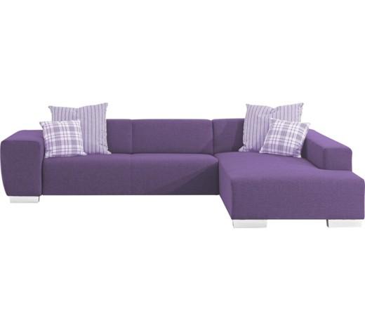 ecksofa webstoff r ckenkissen zierkissen lila online. Black Bedroom Furniture Sets. Home Design Ideas