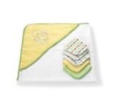 KAPUZENBADETUCH - Gelb/Weiß, Textil - MY BABY LOU