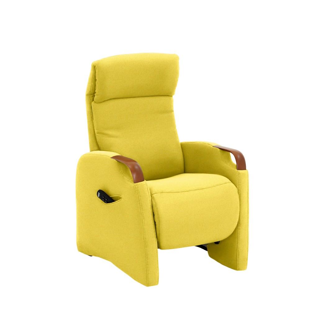FERNSEHSESSEL in Gelb Textil
