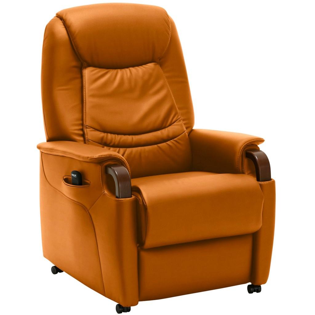 FERNSEHSESSEL in Orange Leder